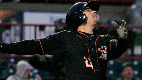 Tony Plagman has hit six homers and driven in 20 runs in May for Erie.